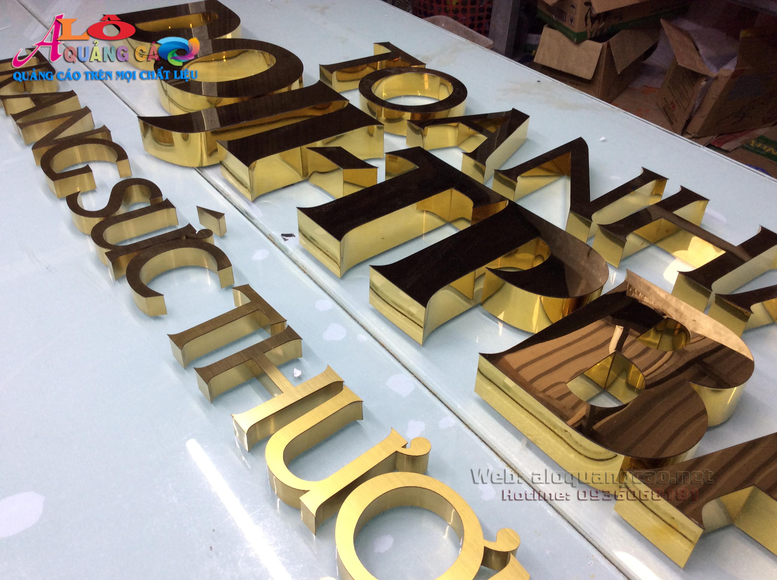 Thiết kế thi công sản xuất làm chữ nổi logo inox 201 và 304 giá rẻ