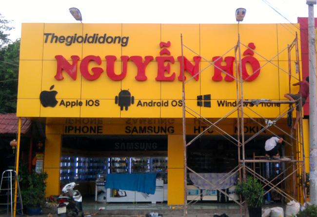 Làm bảng hiệu quảng cáo giá rẻ tại Quận Hoàng Mai Hà Nội