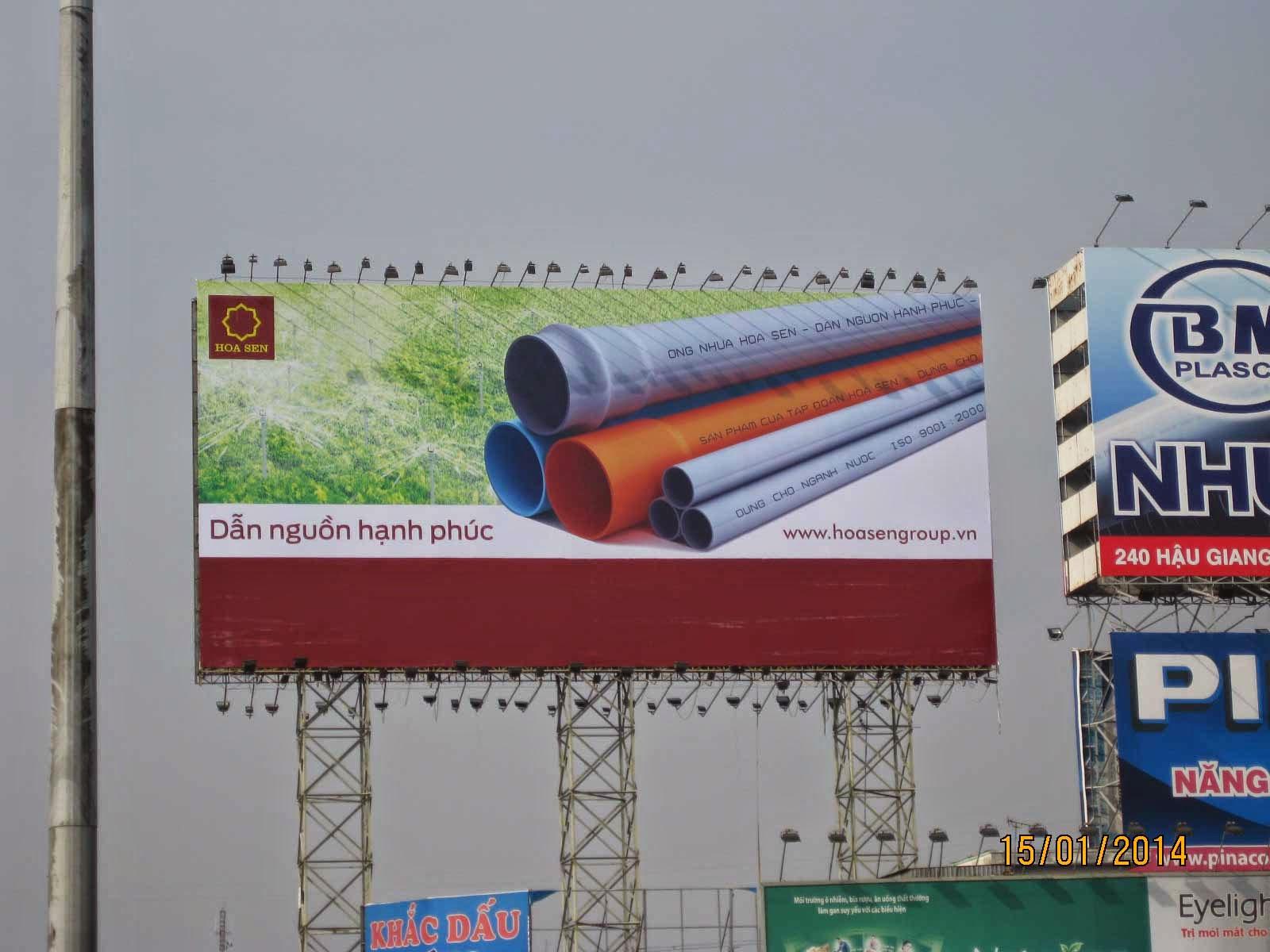 bảng hiệu quảng cáo Pano Hiflex đẹp
