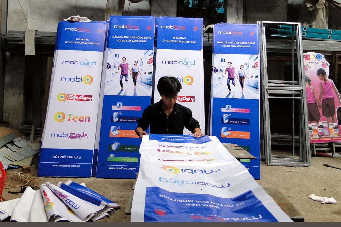 Xin giấy phép treo băng rôn pano banner quảng cáo Quận Hoàng Mai
