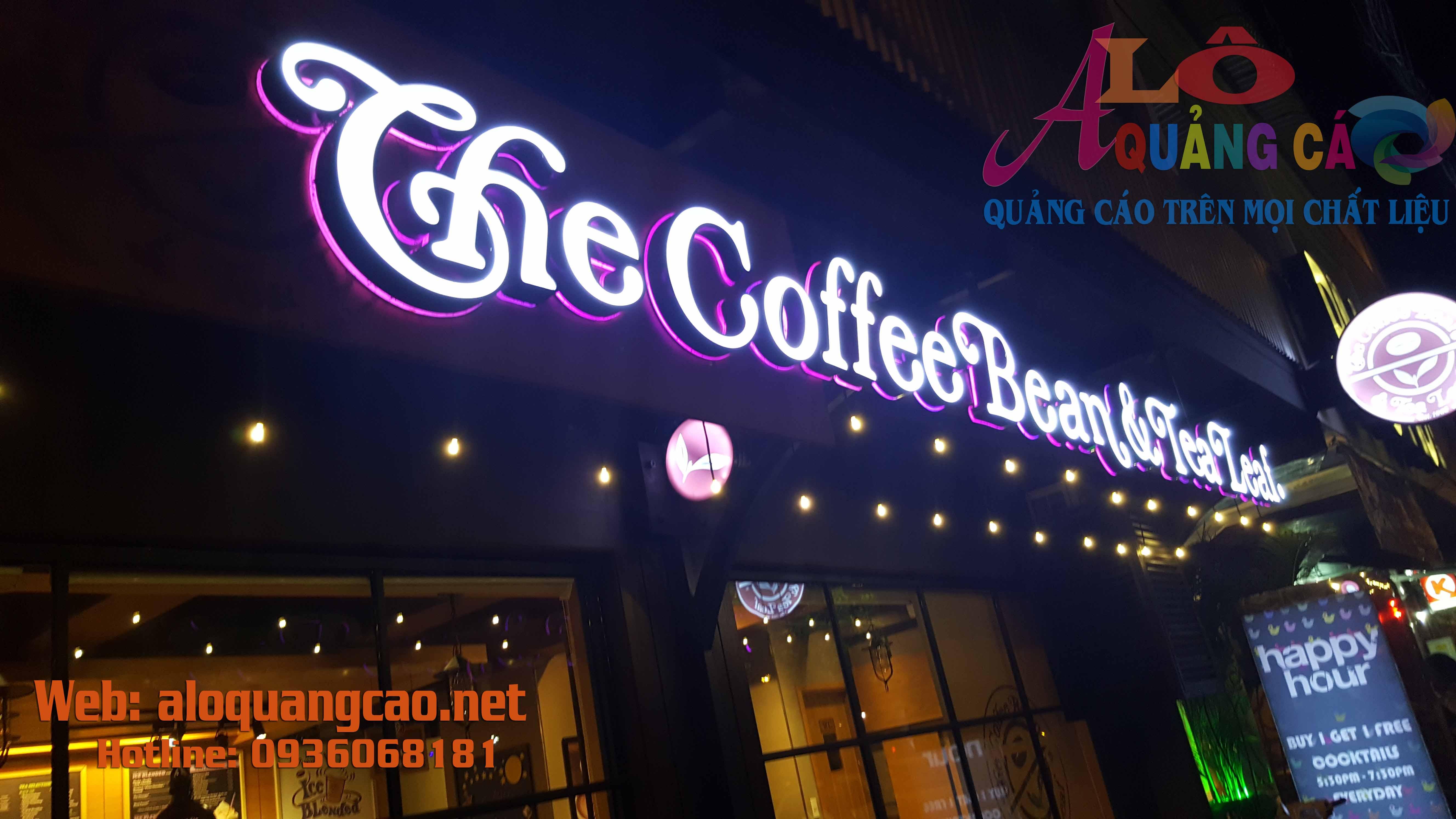 THIẾT KẾ THI CÔNG LÀM BIỂN HIỆU CHO QUÁN CÀ PHÊ ( Coffe )