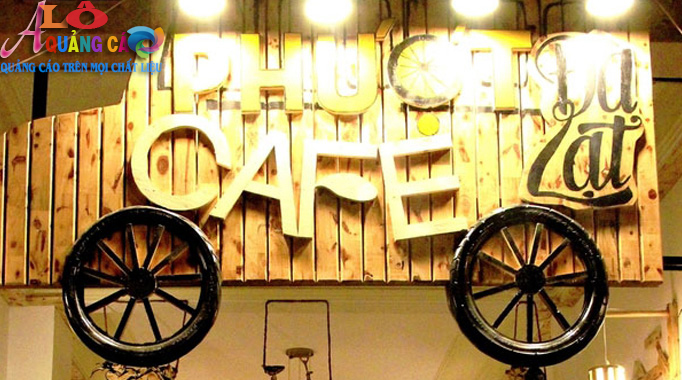 Thiết kế thi công bảng hiệu quán cafe