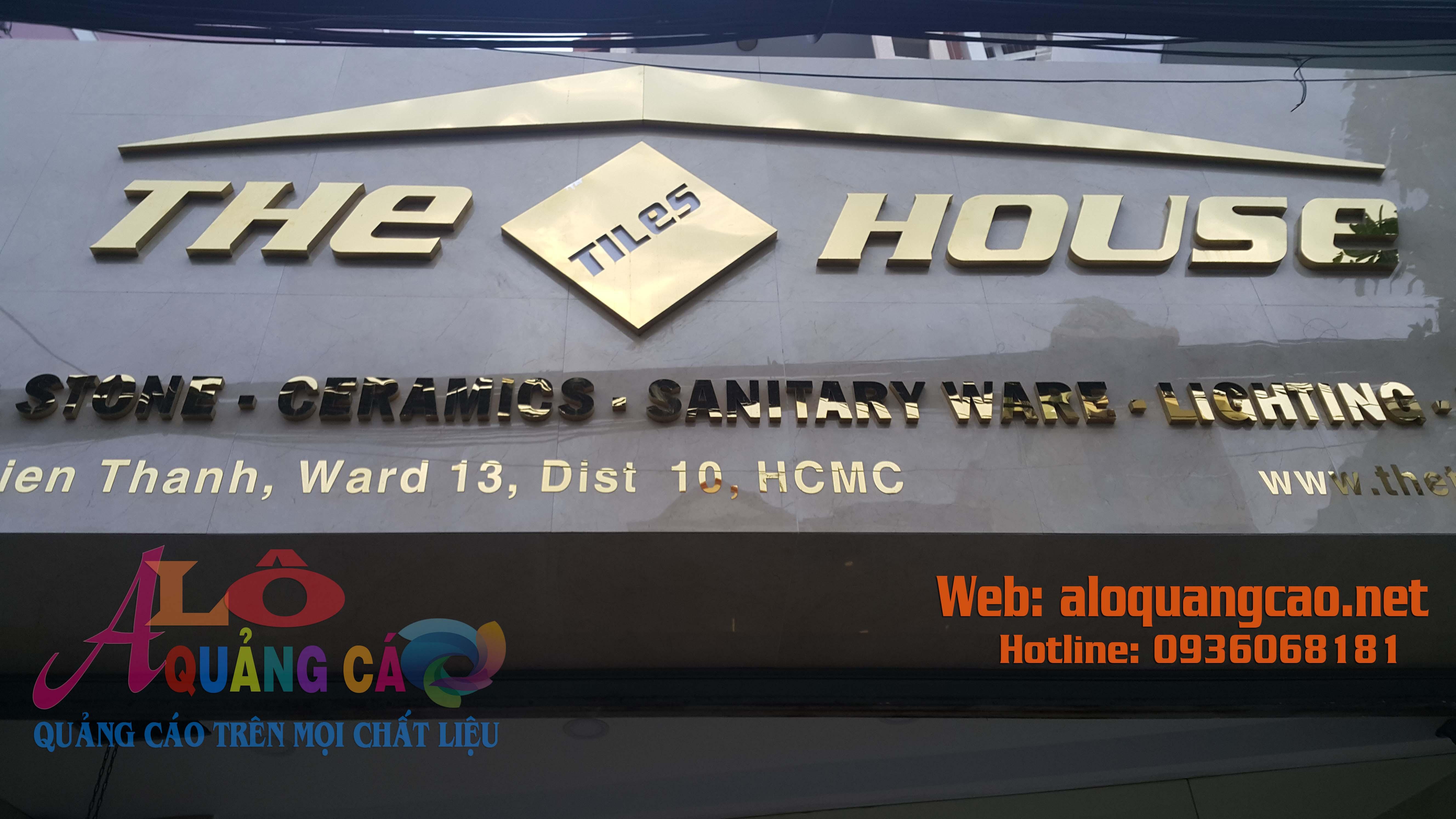 Hoàn Thành Thi Công Bảng Hiệu Inox Tại Quận 10 TP HCM