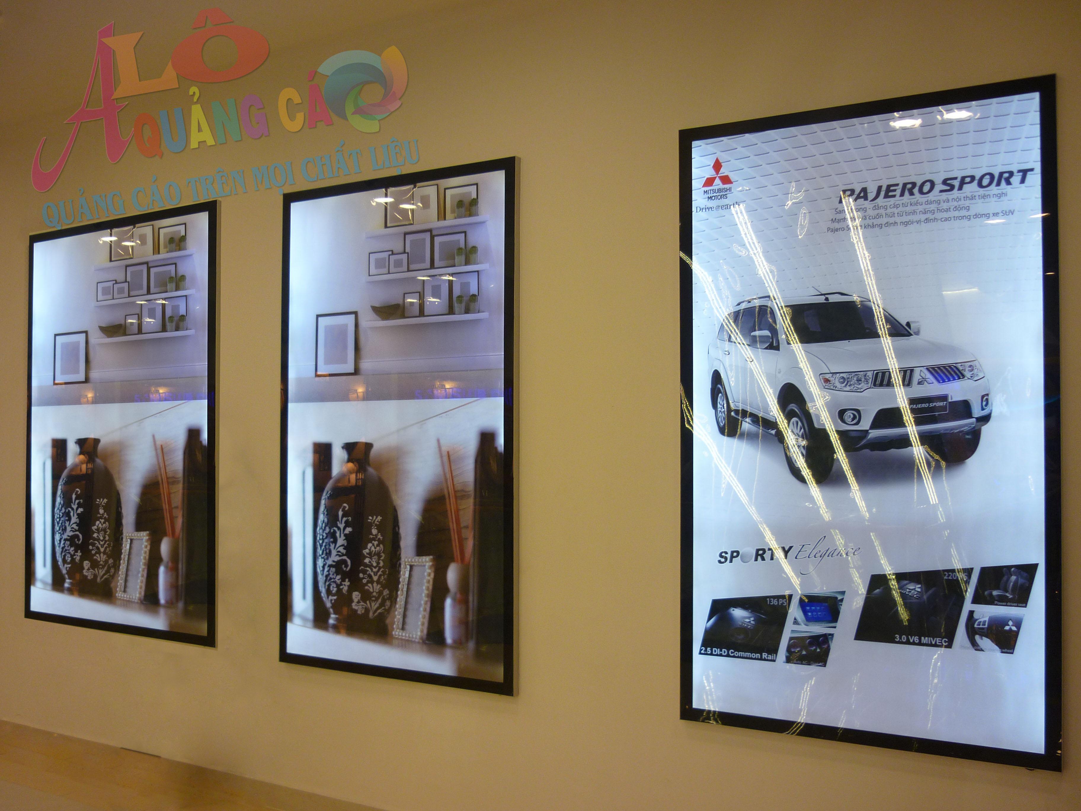 Hộp đèn led siêu mỏng thi công tại văn phòng, siêu thị, trung tâm thương mại