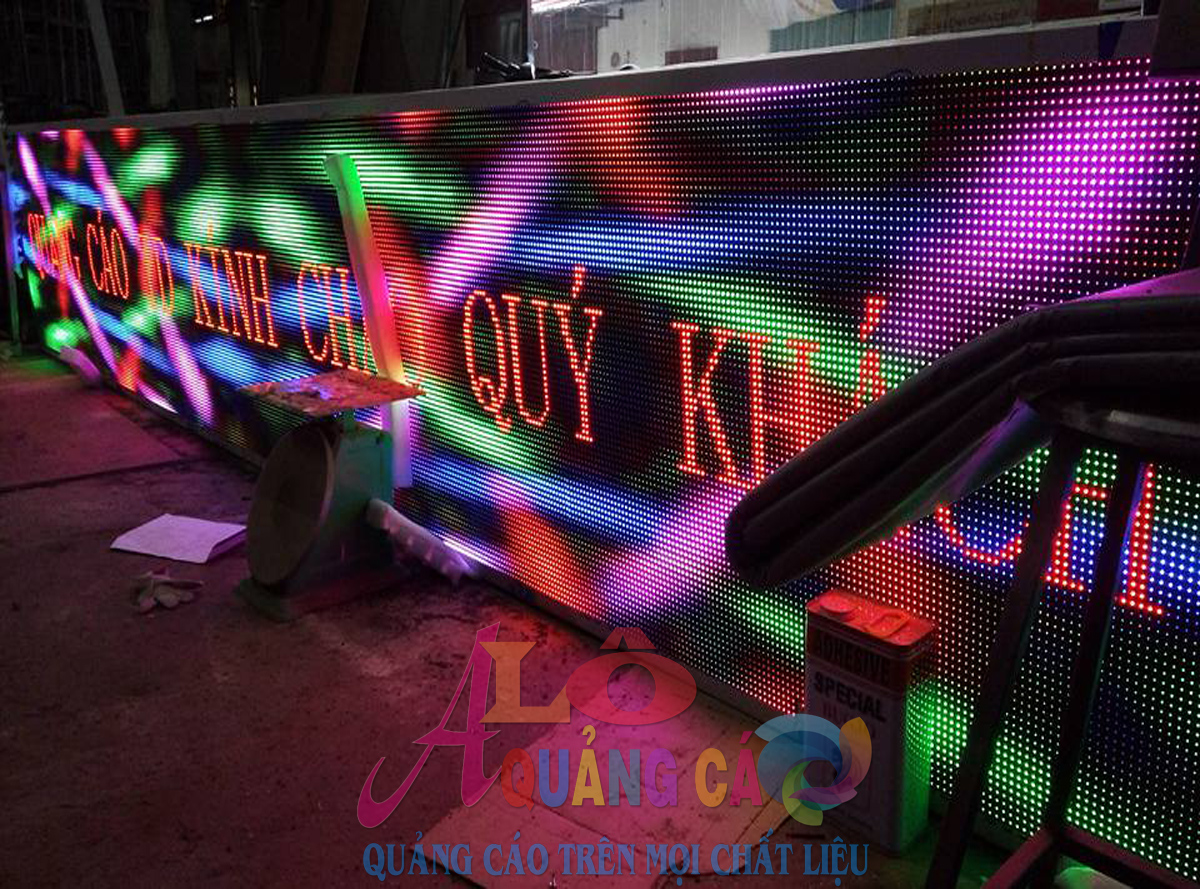 Thi công bảng led matrix outdoor fullcolor