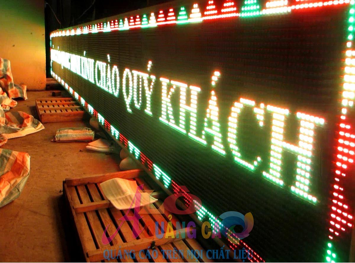 Thi công bảng led matrix P10 outdoor 3 màu