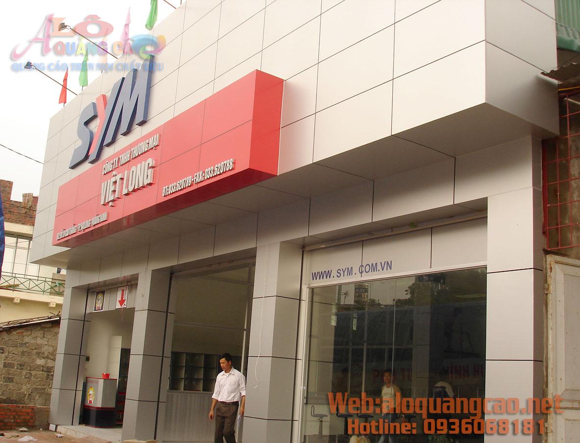 Thi công ốp aluminium mái đón mái vòm sảnh mặt tiền Hà Nội