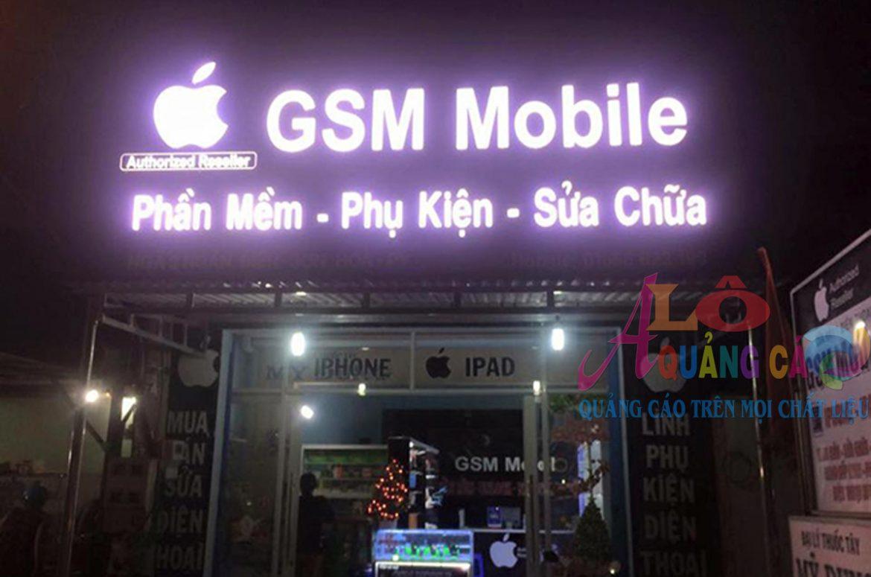 Thiết kế thi công bảng hiệu cửa hàng điện thoại di động