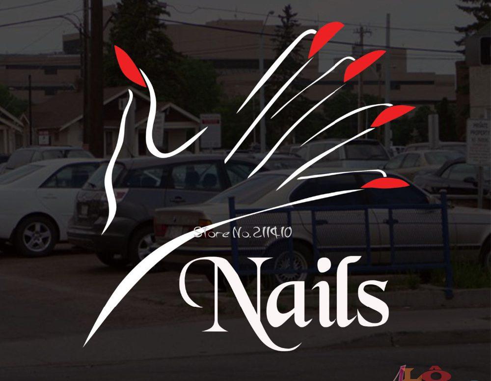 Thiết kế thi công bảng hiệu tiệm Nail đẹp