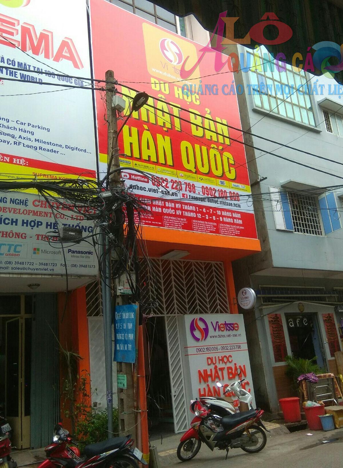 Bảng hiệu alu chữ nổi mica hộp đèn hút nổi Viet SSE Tân Bình