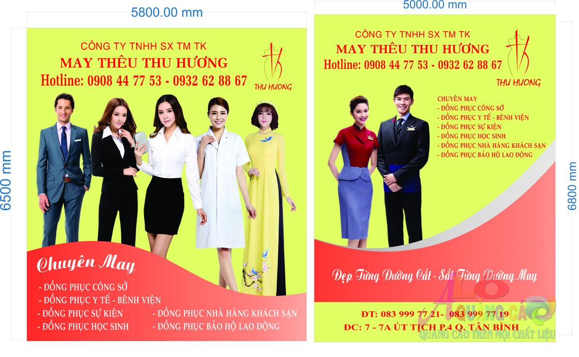 Thiết kế thi công pano bạt hiflex Nhà May Thu Hương Tân Bình