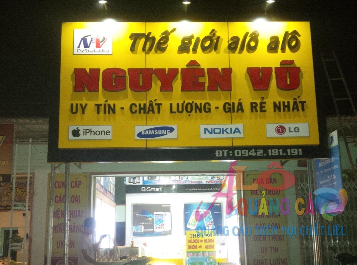 Á Châu cam kết thi công bảng hiệu cửa hàng điện thoại không đâu rẻ hơn