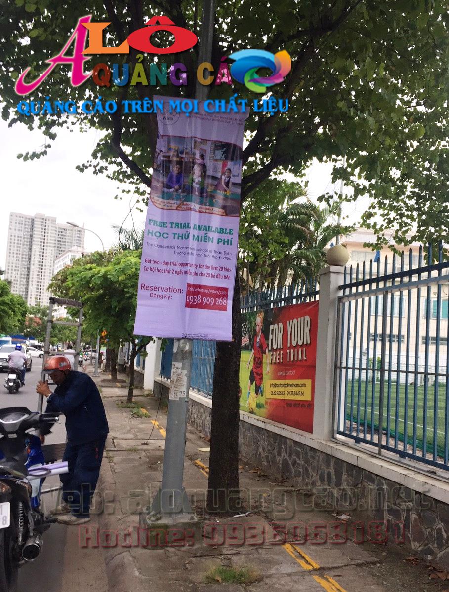 Á Châu treo ban rôn quảng cáo chuyên nghiệp tại Quận 2