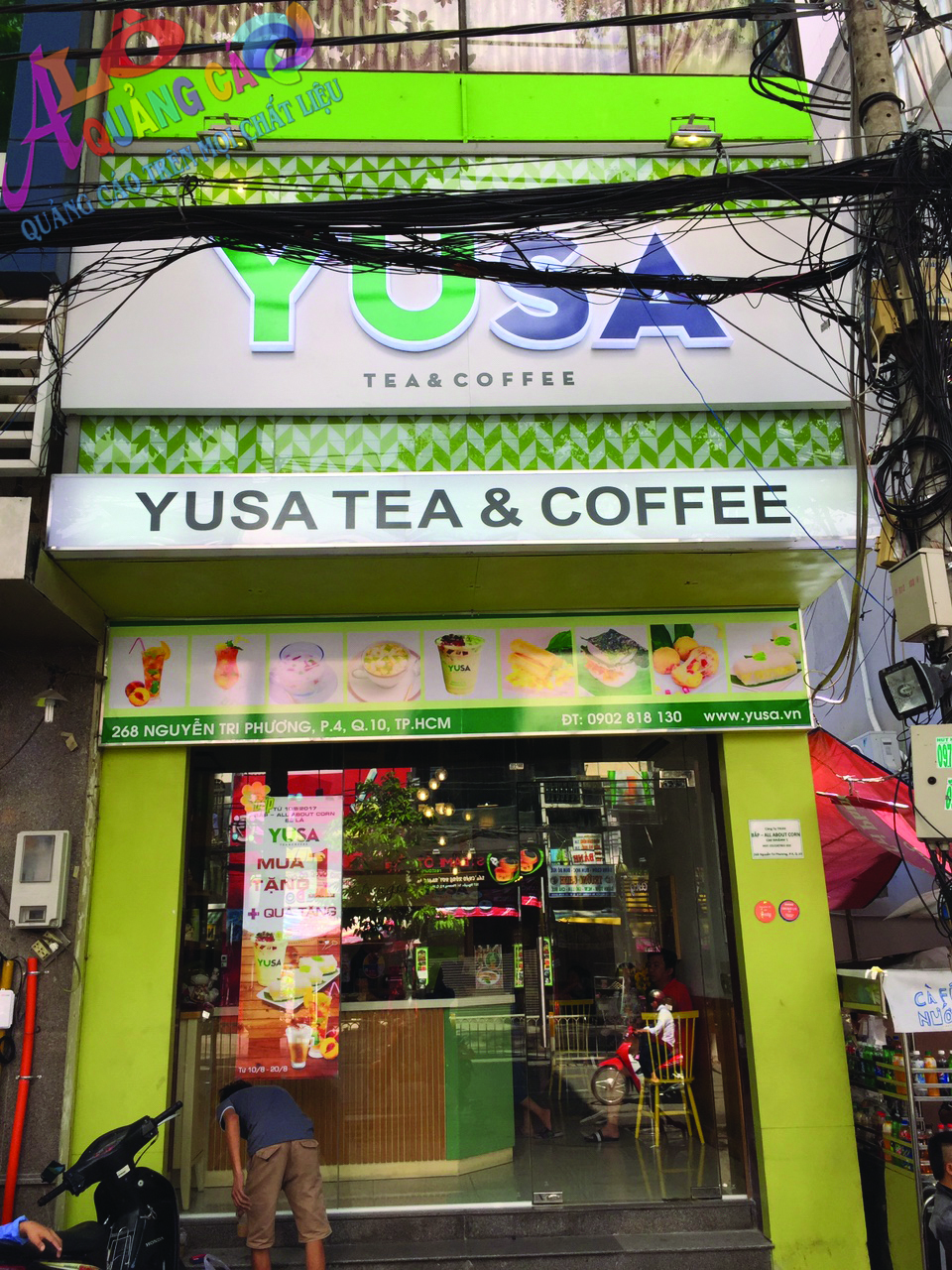 Thiết kế thi công bảng hiệu alu chữ nổi mica led Yusa Quận 10
