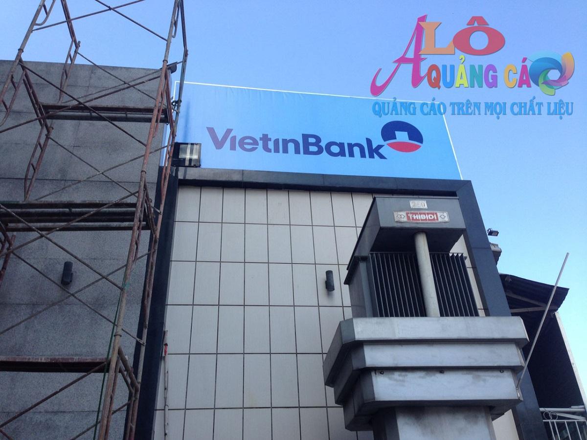 Thi công bảng hiệu hiflex 2 mặt tại Ngân Hàng VietttinBank CN Phú Nhuận