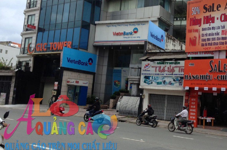 Thi công bảng hiệu hiflex Ngân Hàng ViettinBank Phú Nhuận