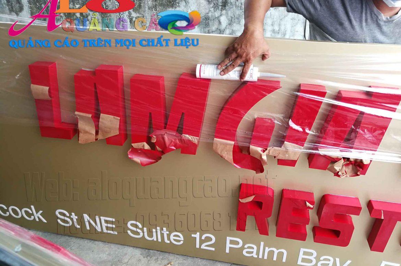 Chuyên thi công làm bảng hiệu biển hiệu quảng cáo gửi đi nước ngoài