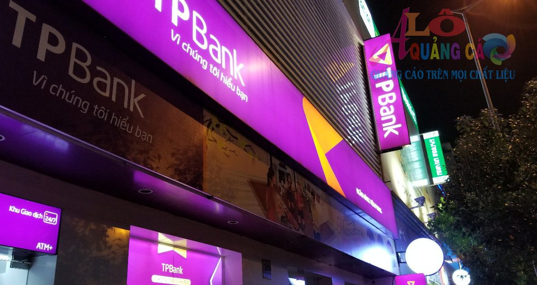Thi công hộp đèn led bạt 3M xuyên sáng TP Bank Phú Nhuận