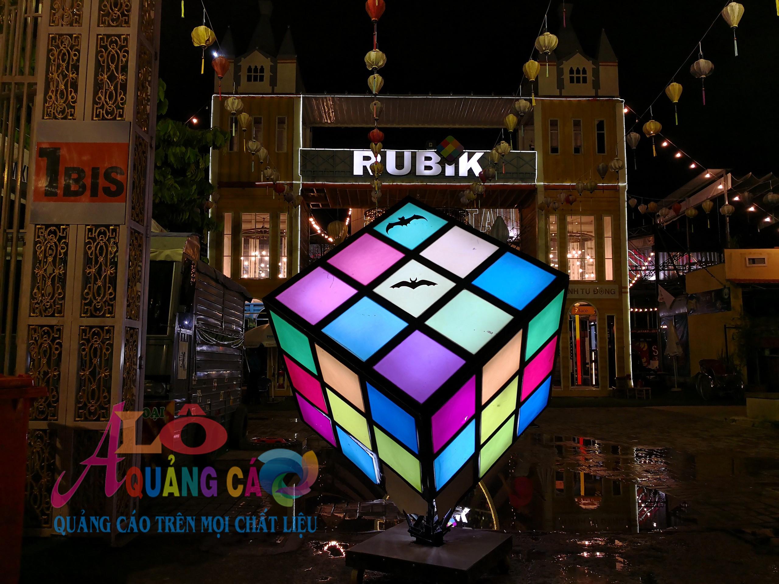 Thiết kế thi công mô hình trang trí tại nhà hàng Rubik