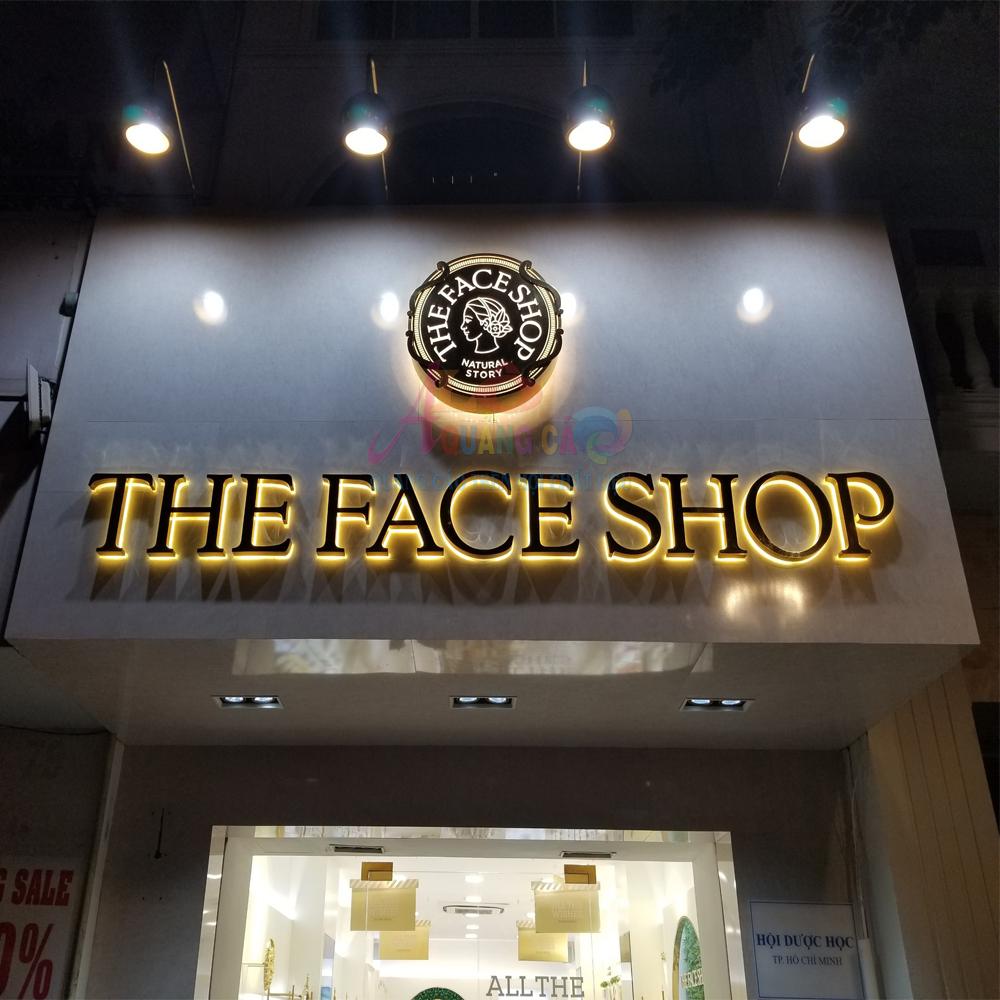 Thi công bảng hiệu quảng cáo The Face Shop Quận 1