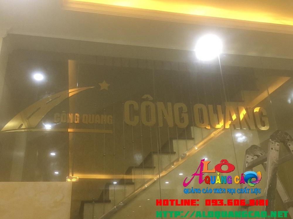 Thiết kế thi công bảng hiệu alu chữ inox Công Quang Quận 9