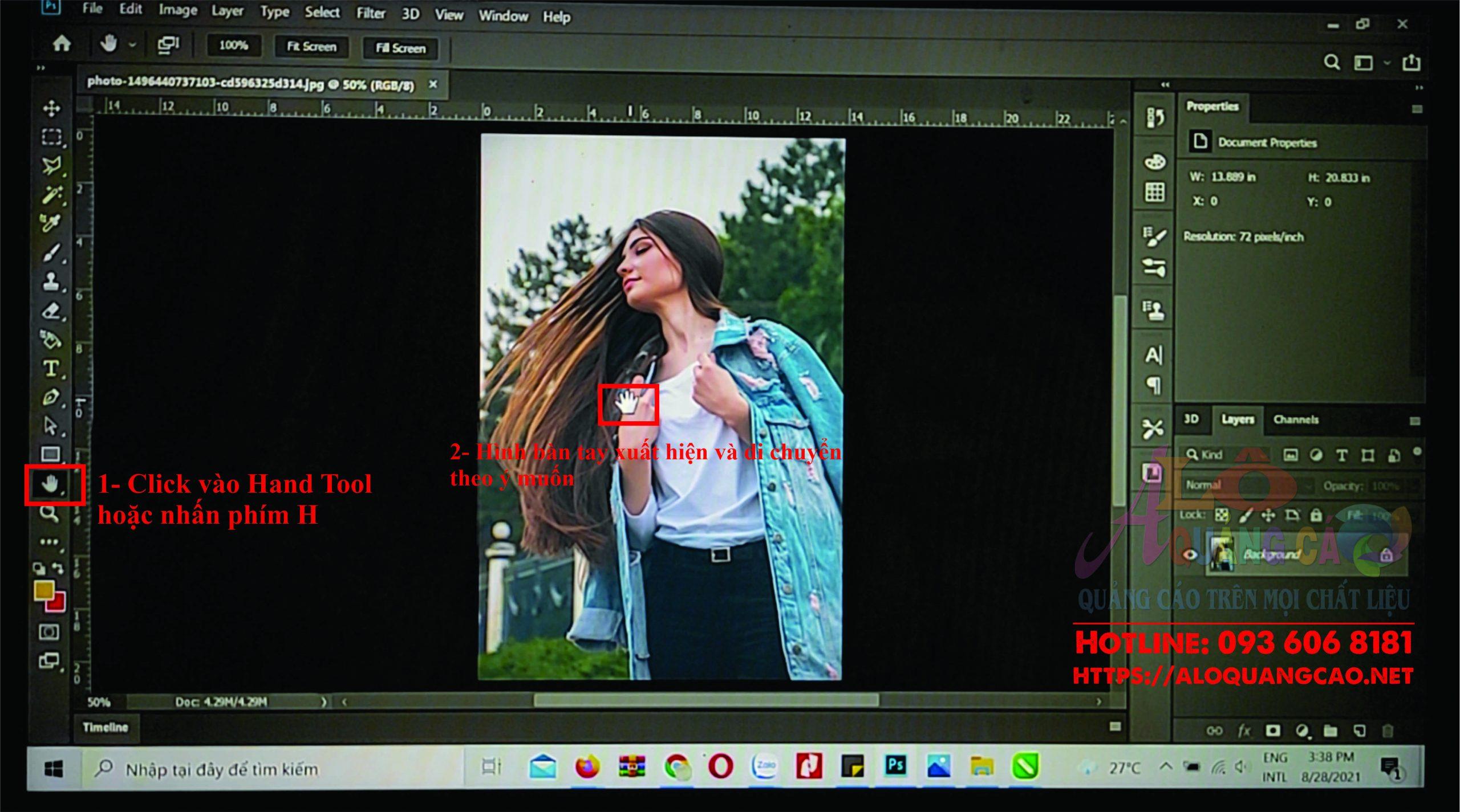 Cách duy chuyển vùng chọn trong photoshop