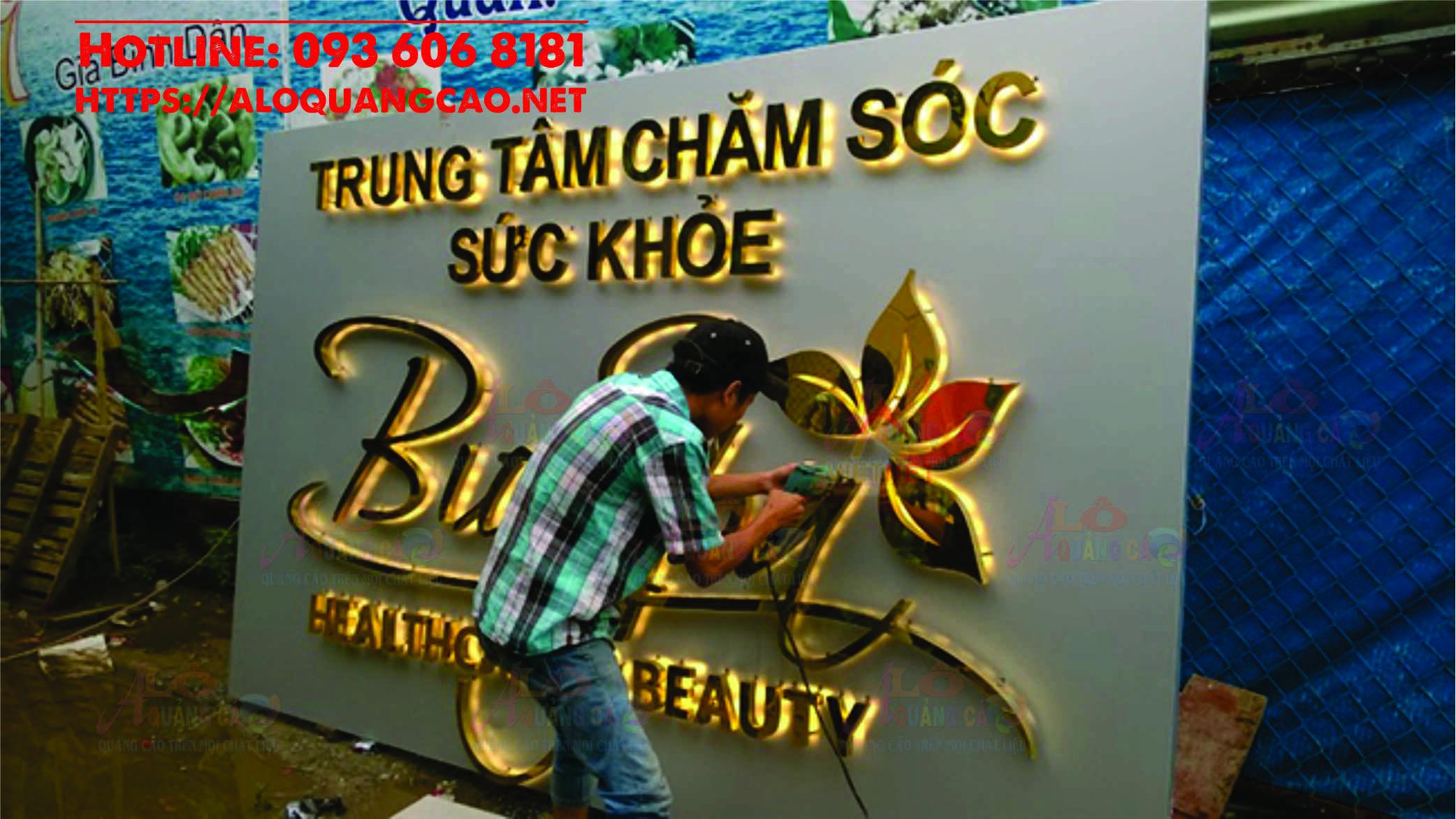 Xưởng gia công chữ inox led hắt chân giá rẻ tại Tp HCM